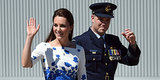 Kate Middleton Accessorizes Her Blue Poppy Spring Dress With A... Fighter Jet?