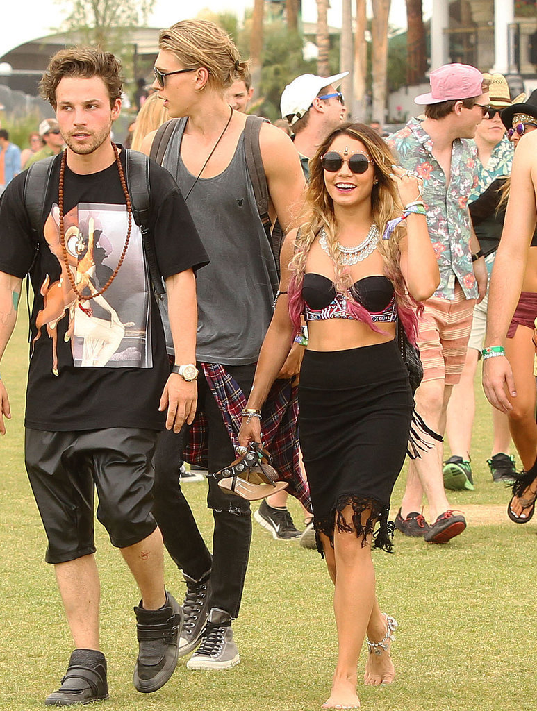 Vanessa Hudgens was on the move, as her boyfriend, Austin Butler, followed closely behind.