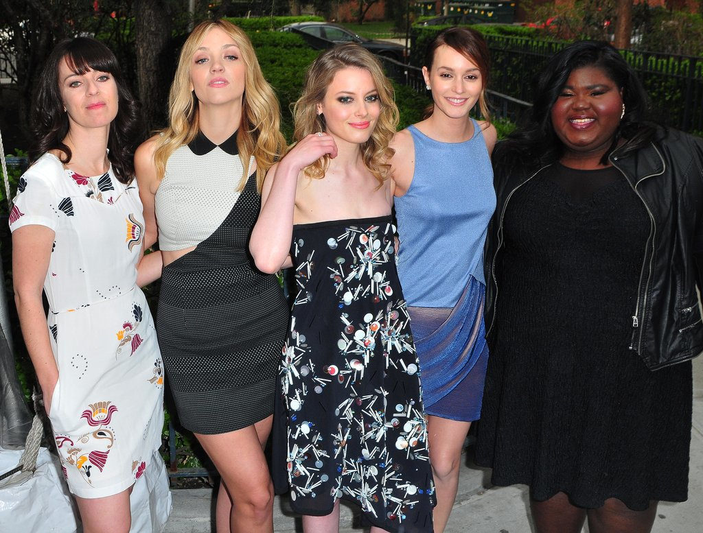 Leighton Meester posed for a group photo with Susanna Fogel, Abby Elliot, Gillian Jacobs, and Gabourey Sidibe.