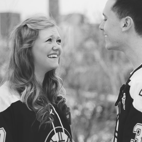 Hockey Fans' Engagement Pictures