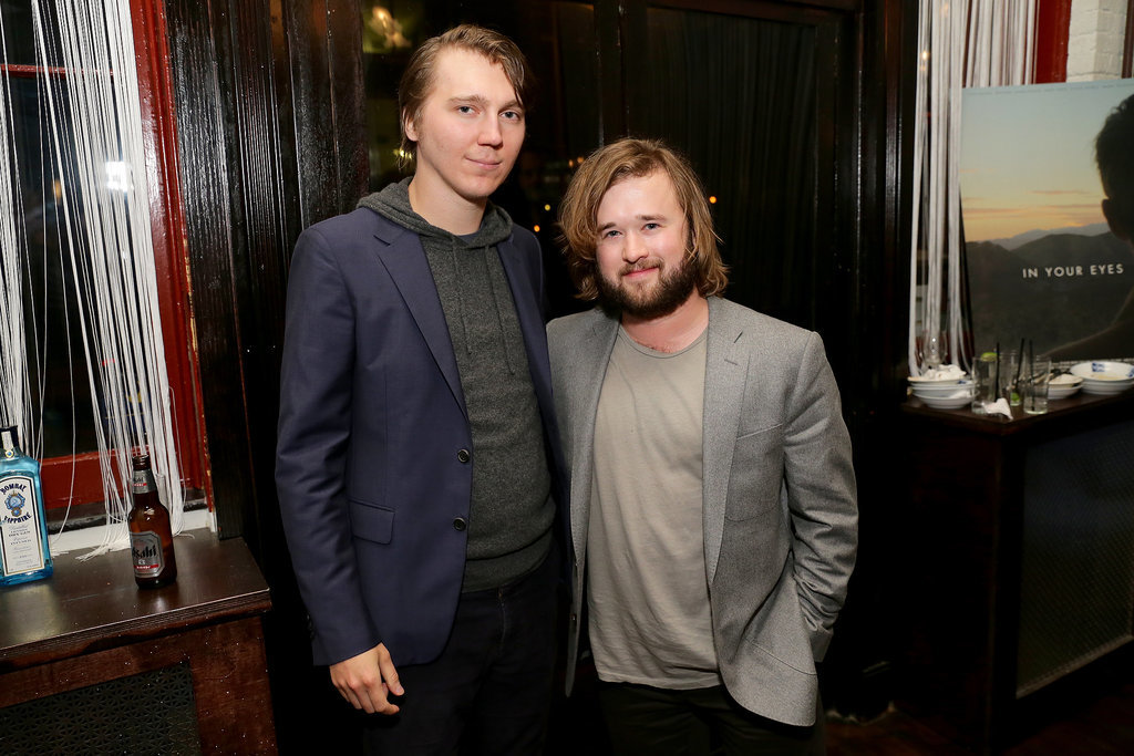 Paul Dano and Haley Joel Osment chatted at the In Your Eyes afterparty.