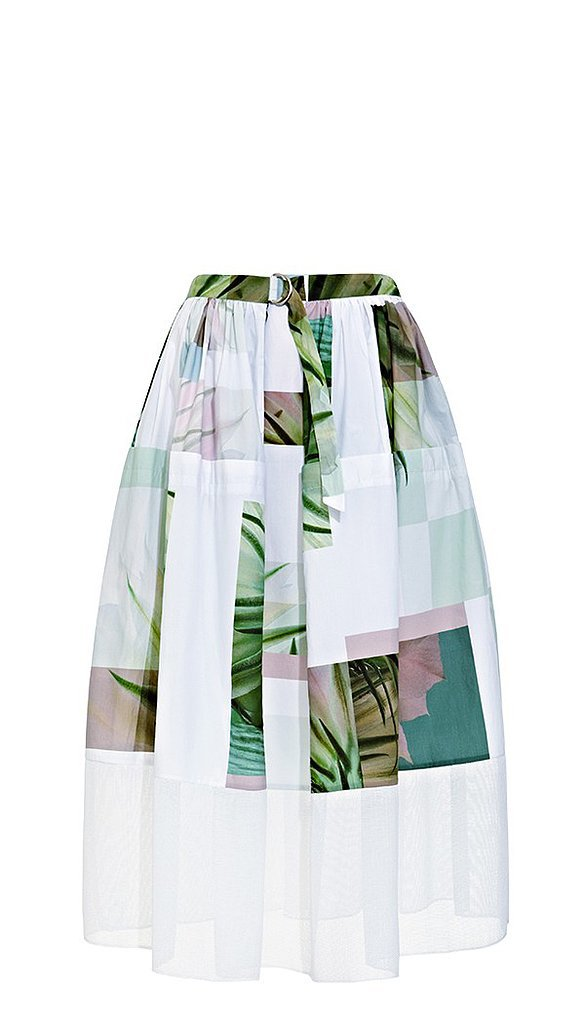 Tibi Printed Full Skirt