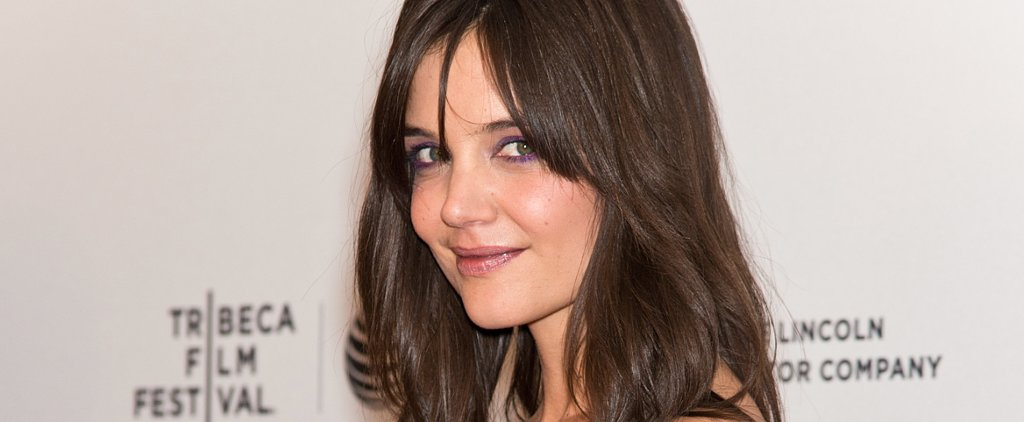 Katie Holmes Dares to Wear Purple Eyeliner to the Tribeca Film Festival