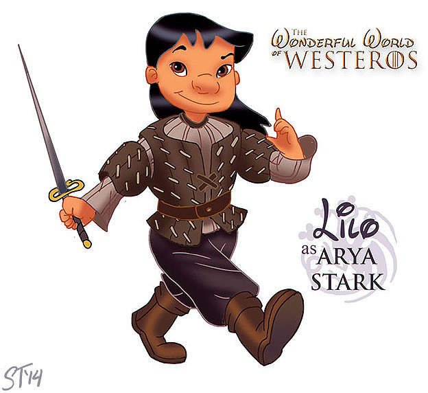 BONUS: Lilo as Arya Stark