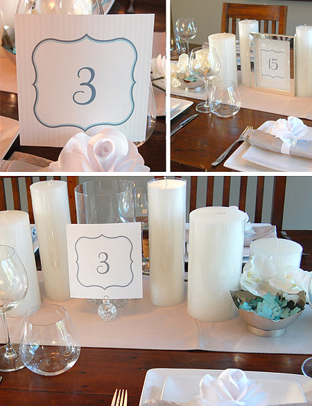Baby Blue and Gray Table Numbers