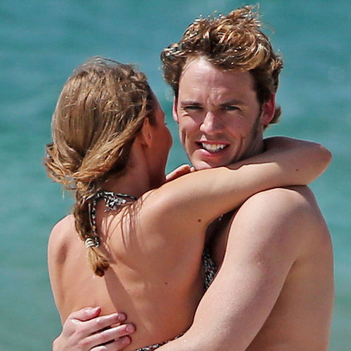 Sam Claflin Shirtless With Wife Lauren Haddock | Pictures