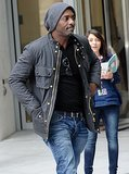 New father Idris Elba steps out for the first time