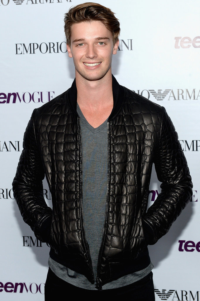 Arnold's son Patrick Schwarzenegger joined Scouts vs. Zombies, as a high school quarterback.