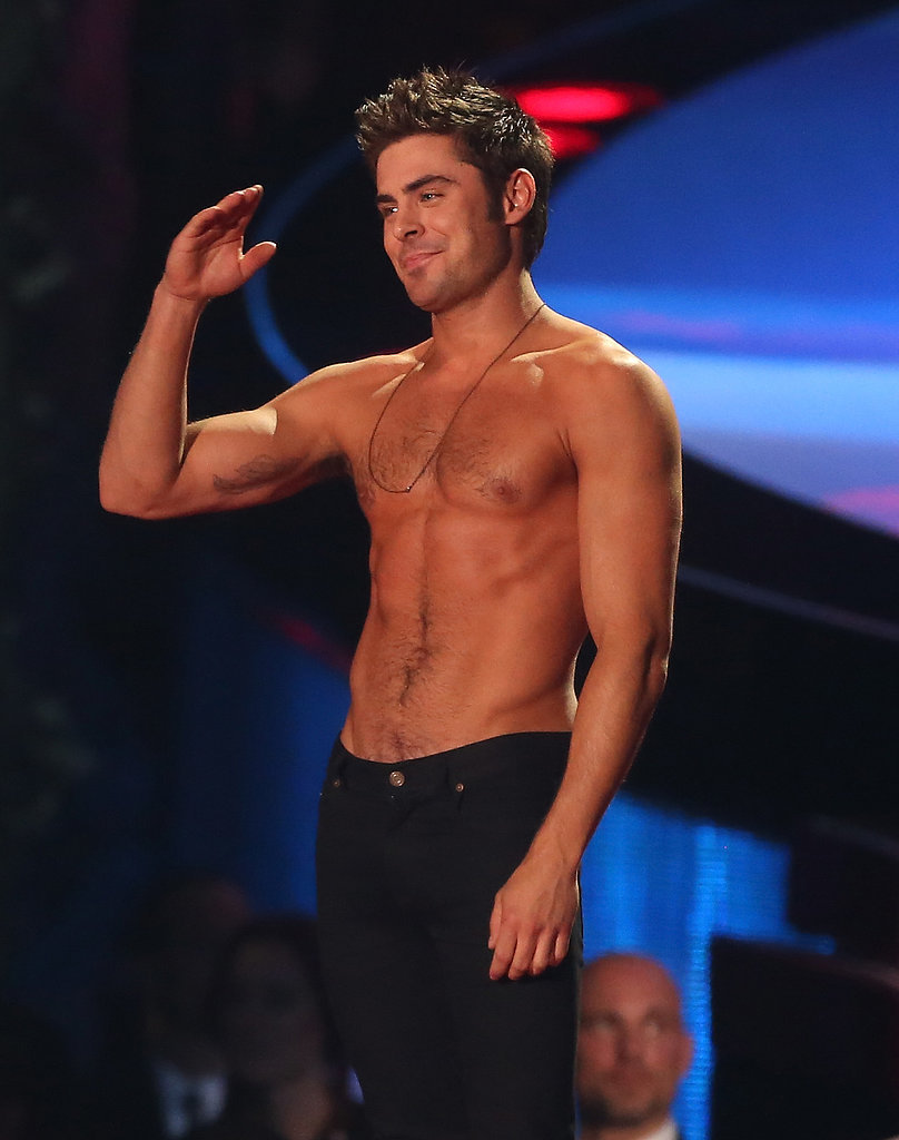 Best Performance by a Chest: Zac Efron at MTV Movie Awards