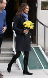 Kate Middleton at King Edwards VII Hospital in 2012