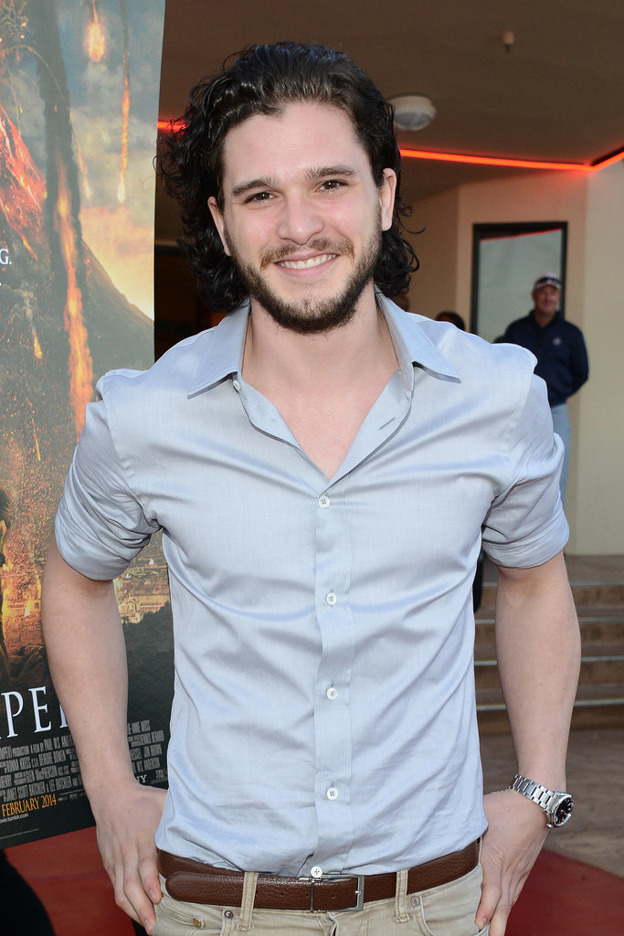 And he gave a big grin at the Pompeii screening in February.