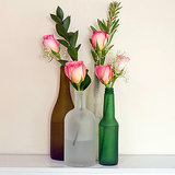 DIY Frosted Vases