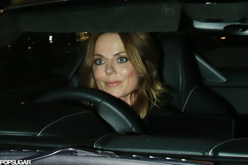 Geri Halliwell drove off after the party ended.
