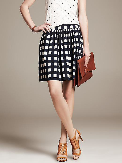 Banana Republic Gingham Skirt
