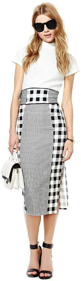 Nasty Gal Gingham Pencil Skirt