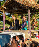 The Royal Couple at Honiara International Airport