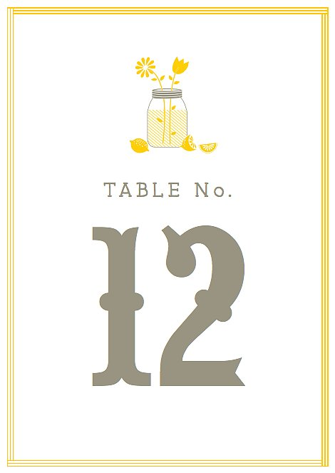 Lemonade-Stand Table Numbers