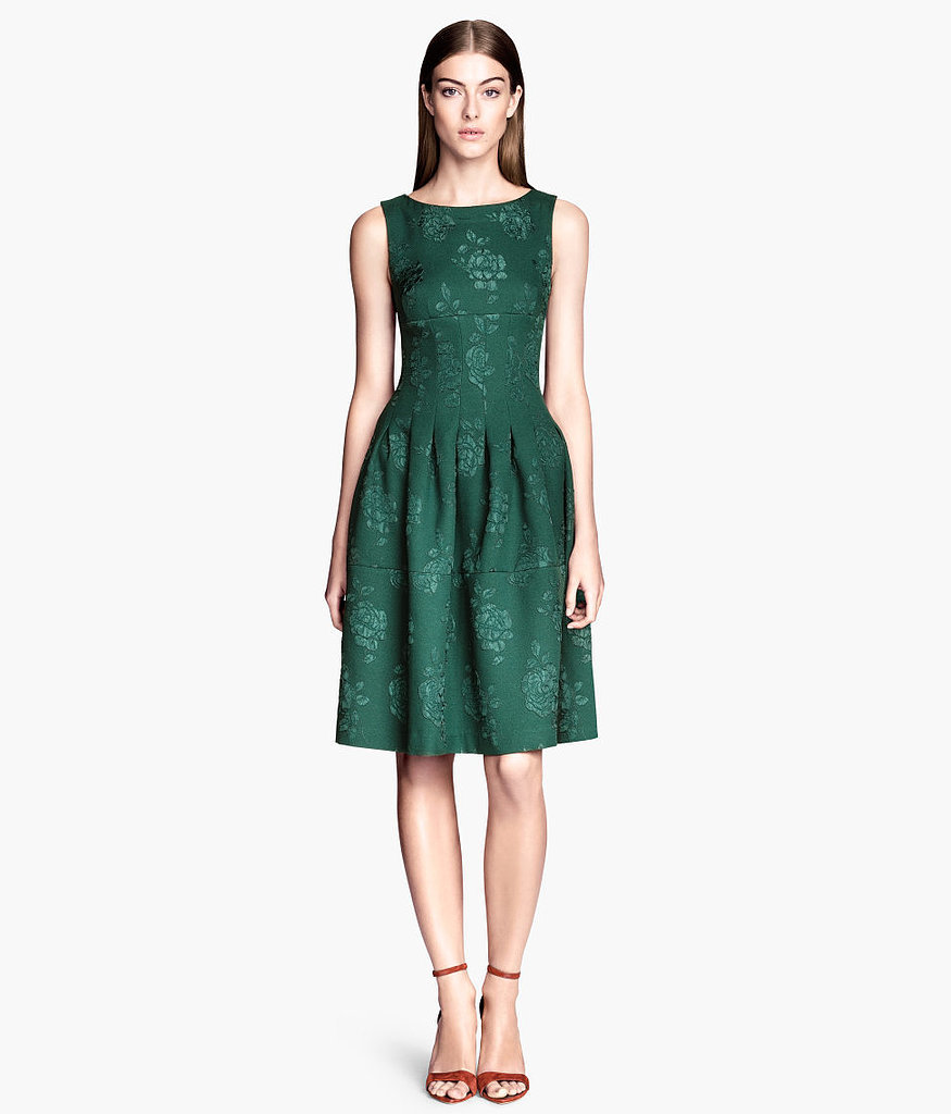 H&M Green Brocade Dress