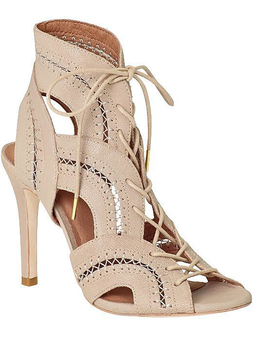 Joie Remy nude lace-up ankle booties ($245, originally $325)