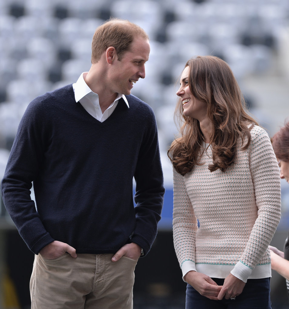 The Duke and Duchess of Cambridge shared a sweet moment during their 2014 visit to Dunedin, New Zealand.