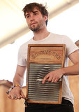 For folksy gals looking for a guy who can play the washboard, there's this guy from Spirit Family Reunion.