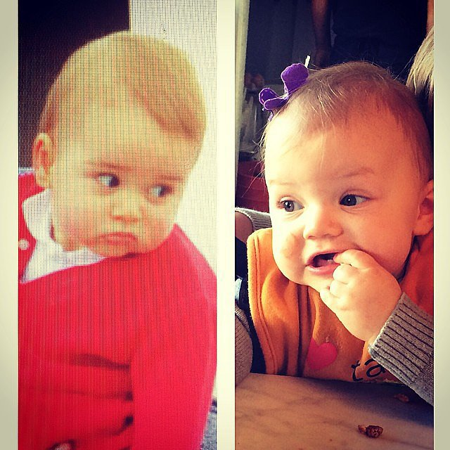 Busy Philipps thinks baby Cricket would be great friends with Prince George, if given the chance. Source: Instagram user busyphilipps