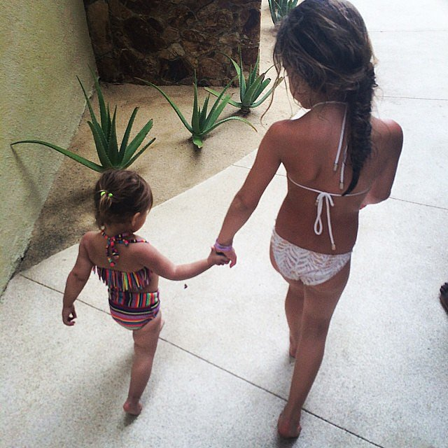 Penelope Disick looked ready for a pool day! Source: Instagram user kourtneykardash