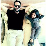"Skyler Berman enjoyed a relaxing day with his ""uncle"" photographer Justin Coit. Source: Instagram user rachelzoe"