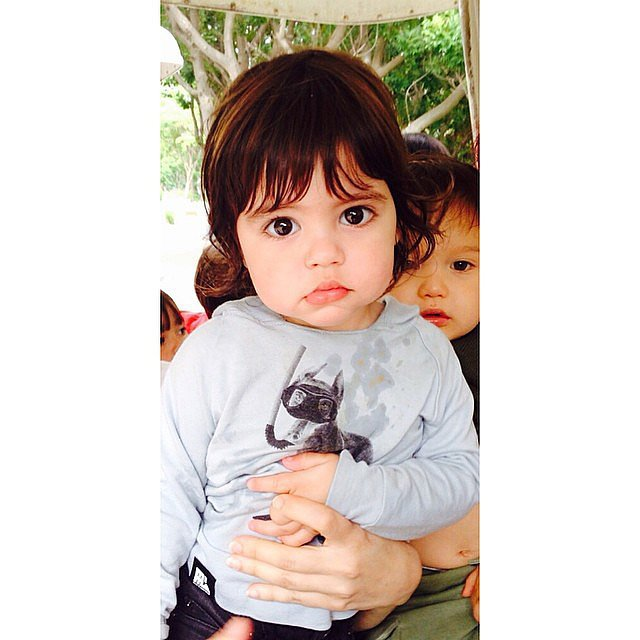Shakira shared this too-cute-for-words photo of her son, Milan. Source: Instagram user shakira