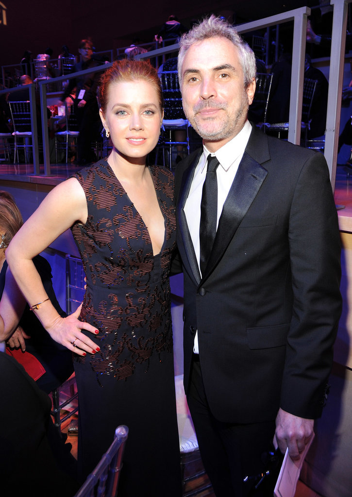 Amy Adams met up with director Alfonso Cuarón.