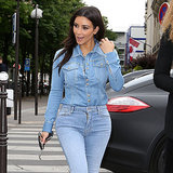 Kim Kardashian Can't Help Herself — She Even Makes Denim on Denim Sexy
