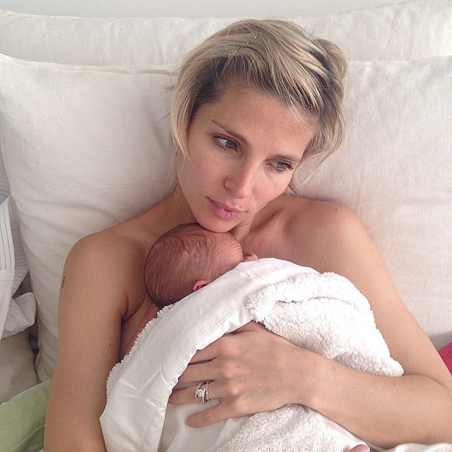 Elsa Pataky shared a sweet snap with one of her newborn twin boys. Source: Instagram user elsapatakyconfidential
