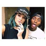 Kylie Jenner showed off her new blue hair. Source: Instagram user kyliejenner