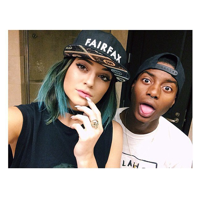 Kylie Jenner showed off her new blue hair. Source: Instagram user kyliejenner