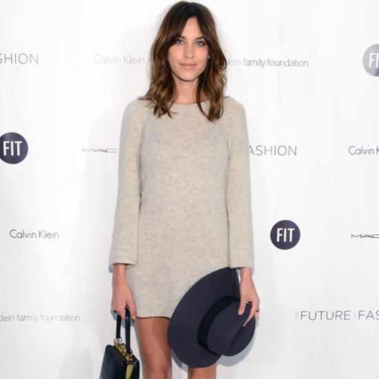 Where To By Alexa Chung's Style Online; Grey Sweater Dress