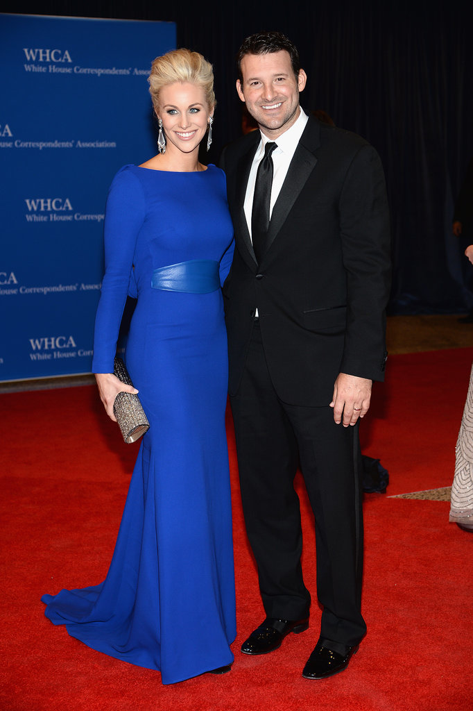 Tony Romo and his wife, Candice Crawford, walked the red carpet together.