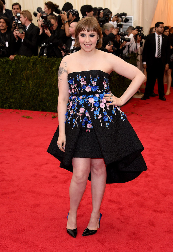 Lena Dunham at the 2014 Met Gala