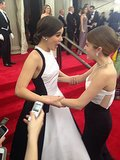 Pitch Perfect 2 costars Anna Kendrick and Hailee Steinfeld had a moment. Source: Twitter user metmuseum