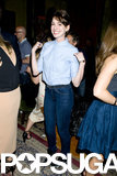 Anne Hathaway kept things casual.