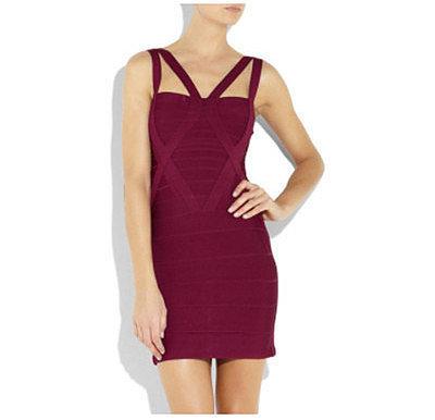 X-Shape Front Bandage Dress
