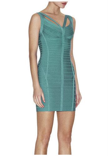 Dual Straps Party Evening Bandage Dress