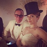 Anna Kendrick rocked a serious top hat with J. Mendel. Source: Instagram user annakendrick47