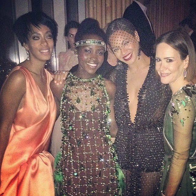 Beyoncé and Solange Knowles hung out with Lupita Nyong'o and Sarah Paulson.