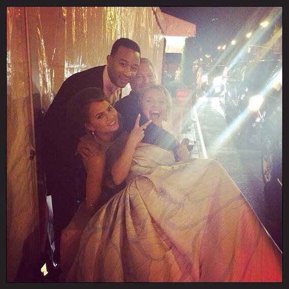 Hayden Panettiere had a blast with Chrissy Teigen and John Legend.  Source: Twitter user haydenpanettiere
