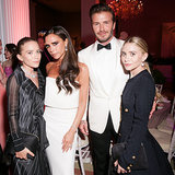 David and Victoria Beckham took a photo with Mary-Kate and Ashley Olsen inside the Met.