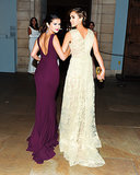 Selena Gomez and Jessica Alba walked arm in arm.