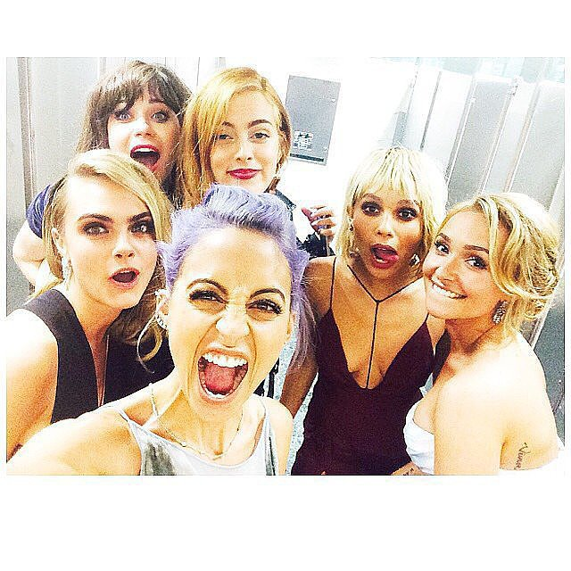 Nicole Richie, Hayden Panettiere, Cara Delevingne, Zooey Deschanel, Riley Keough, and Rita Ora