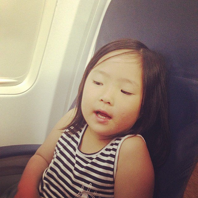 "Naleigh Kelley entertained fellow passengers on her Delta flight with a rendition of ""Let It Go."" Source: Instagram user joshbkelley"