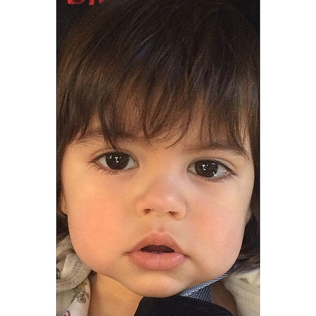 Shakira showed off Milan's beautiful, big, brown eyes. Source: Instagram user shakira