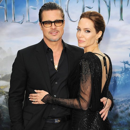 Angelina Jolie and Brad Pitt at Maleficent Event London